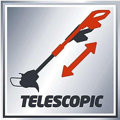 Einhell Elektro Rasentrimmer GC-ET 4530 Set (450 Watt, 30 cm Schnittbreite, 10 m Fadenlänge, teleskopierbar, inkl. 3 Fadenspulen)