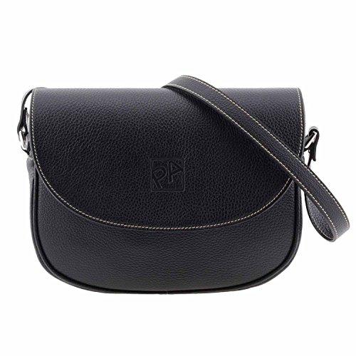 sac à bandoulière en cuir Noir