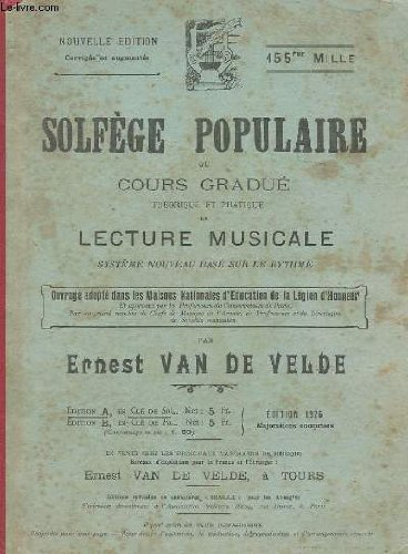 Solfege populaire ou cours gradue theori...