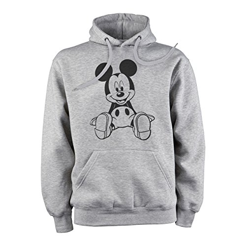 Mickey Mouse Disney Dope Icon Swag Colour Sitting On Ground XL Herren Hoodie (Mickey Mouse Hoodie)