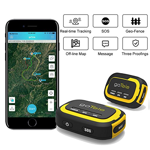 goTele GPS Tracker, No Monthly Fee No Network Required Mini Portable Off-grid Real Time GPS Tracking Device for Outdoor Hiking, Hunting, Kids and Pets Tracker(2 Pack)