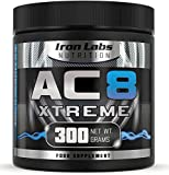 AC8 Xtreme | Blue Raspberry | Pre Workout Supplement | Energy & Muscle | 20-40 Servings | 300 grams