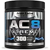 AC8 Xtreme - Blue Raspberry | Hardcore Pre-Workout Supplement | 20-40 Servings | 100% Money Back Guarantee | 300 grams