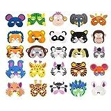 Cosoro 25 Kinder Eva-Schaum Tiermasken für Partytüten, Maskerade, Geburtstagsparty, Weihnachten, Halloween