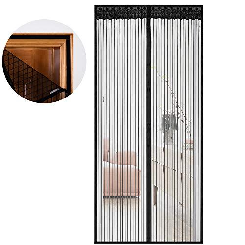 Miqili zanzariera magnetica per porte - dimensioni 120 x 240cm, adatta a porte di 140 cm - rete di ottima qualità, tenda zanzariera per porte d'ingresso,porte, cortili (120 * 240cm)