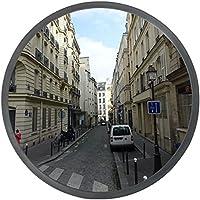 Ectxo espejos de seguridad convexos exterior 30 cm negro