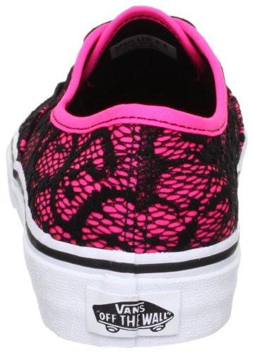 Vans U AUTHENTIC (WASHED) BLACK VVOE4JT Unisex-Erwachsene Sneaker Neon Pink