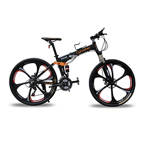Mountainbikes Klappr?der doppelte Federung Mann Fahrr?der matt-schwarz Shimano M310 ALTUS 24 Geschwindigkeiten 17 Zoll * 26 Zoll Aluminium-Rahmen-Fahrrad Scheibenbremsen Cyrusher aktualisiert neu FR100