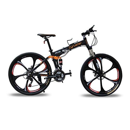 Cyrusher® New Updated Black FR100 Mountain Bike Folding Frame MTB Bik