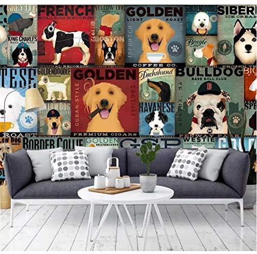 3d wallpaper benutzerdefinierte kinderzimmer wandbild wandaufkleber cartoon hund mapping foto wandbilder wallpaper-400X300cm