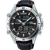 Seiko analoge digitaal kwarts horloge met lederen armband RW637AX9