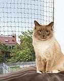 FamilyZoo | Katzennetz | Schutznetz | 6 x 3m | drahtverstärkt | Nylon |olivgrün