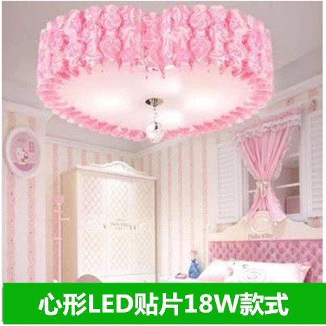 Prinzessin Drei-licht Kronleuchter (Romantische Hochzeit Zimmer Schlafzimmer Lampe Led Energiespar-Prinzessin Zimmer Ideen Personalisierte Herzförmigen Deckenleuchte,Herzförmige Rosa Highlights)