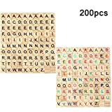 Wicemoon 100pcs DIY Madera Adornos Alfabeto Scrabble Azulejos Letras Negras y N/úmeros para Manualidades Adornos Decoraciones 18 x 20 mm