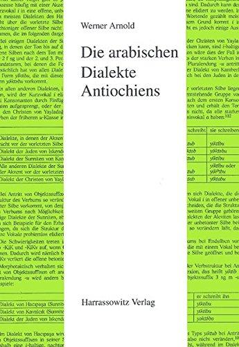 Die arabischen Dialekte Antiochiens (Semitica Viva, Band 19) (Arabisch Phonologie)