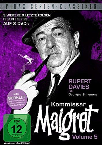 Kommissar Maigret, Vol. 5 / Die letzten 9 Folgen der legendären Kultserie mit Rupert Davies nach dem Romanen von Georges Simenon (Pidax Serien-Klassiker) [3 DVDs]