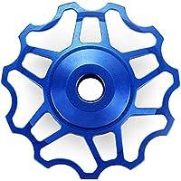 Shuzhen,Polea de Cambio Trasero de Rueda de Jockey Material 11T de aleación de Aluminio para Shimano SRAM / 7/8/9/10 Velocidad(Color:Azul)