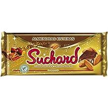 Suchard - Turrón de Chocolate Leche con Almendras enteras y Arroz Inflado, ...