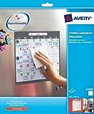 Avery Feuilles calendrier effaçables à sec adhésifs et repositionnables 25,4cmx25,4cm