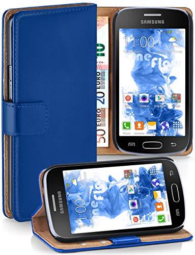 Cover OneFlow per Samsung Galaxy Trend / Trend Plus Custodia con scomparti documenti   Flip Case Astuccio Cover per cellulare apribile   Custodia cellulare Cover rotettiva Accessori Cellulare protezione Paraurti ROYAL-BLUE Galaxy Trend / Trend Plus