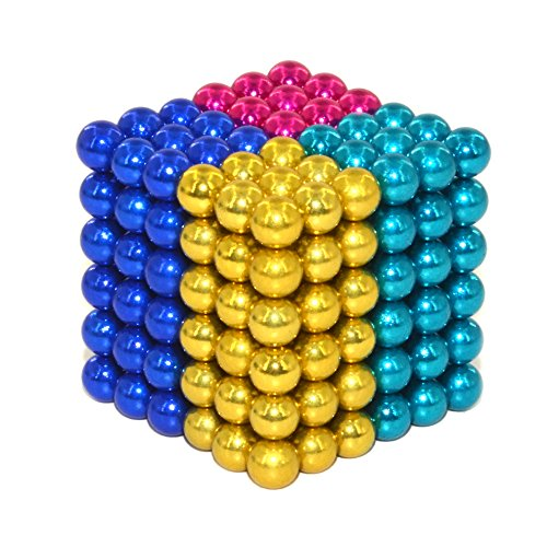 Luckyrao Potente imán Rompecabezas Bola pequeña Bola Creativa mágica Cubo presión Regalo 5mm (4 Colores)