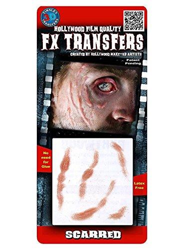 FX Transfers Narben Make-Up Set für Halloween, Fasching und Kostümpartys (Halloween-make-up Zombie Leicht)