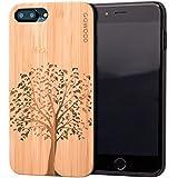 GOWOOD Coque iPhone 7 Plus et 8 Plus en Bois   Coque en Bois de Bambou avec Gravure...