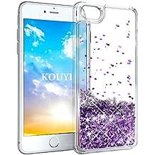 KOUYI iPhone 8//7 H/ülle Glitzer Luxus Flie/ßen Fl/üssig Glitzer 3D Bling Dynamisch Silikon Weich Flexible TPU Kreativ Shiny Glitter Cover Besch/ützer f/ür Apple iPhone 8 Silber iPhone 7