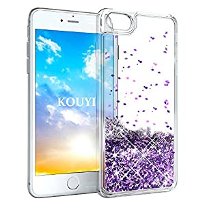KOUYI iPhone 8 Hülle,iPhone 7 Hülle Glitzer