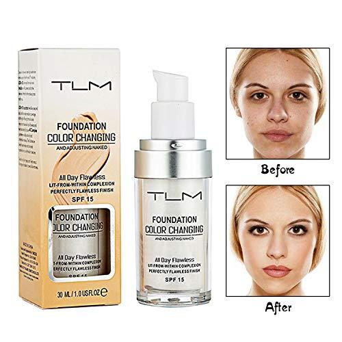 Beste Feuchtigkeitscreme Fettige Haut Spf (Concealer Cover, Flawless Farbwechsel Warm Skin Tone Foundation Makeup Basis Nude Face Liquid Cover Concealer für Frauen All Day Flawless)