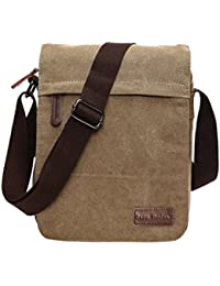 d40a533ade28 SUPA MODERN® Canvas Messenger Bag Shoulder Bag Laptop Bag Satchel Bag  Bookbag School Bag Working Bag Crossbody Bag for Men…