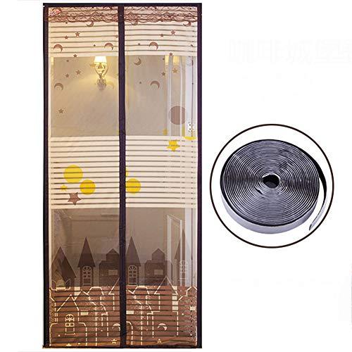 Magnet fliegengitter, Mit Magic tape Ultra seal Mesh-vorhang-A 85x190cm/33.4x74.8inch