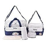 BigForest 5pcs/set Multifunction baby Wickeltasche Diaper Bag Nappy Changing Pad Large Capacity Travel Mummy Bag Tote Handtaschen Set
