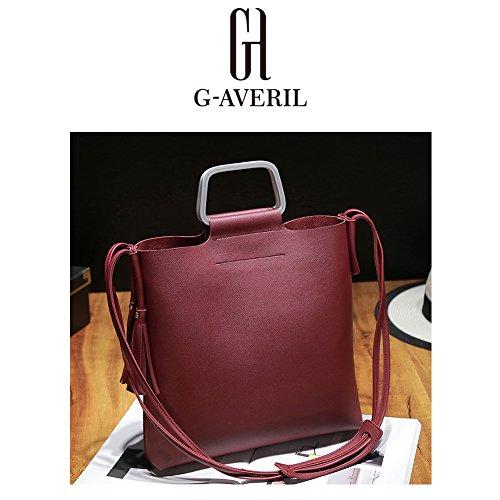 G-AVERIL, Borsa a mano uomo Rosa Pink Wine red