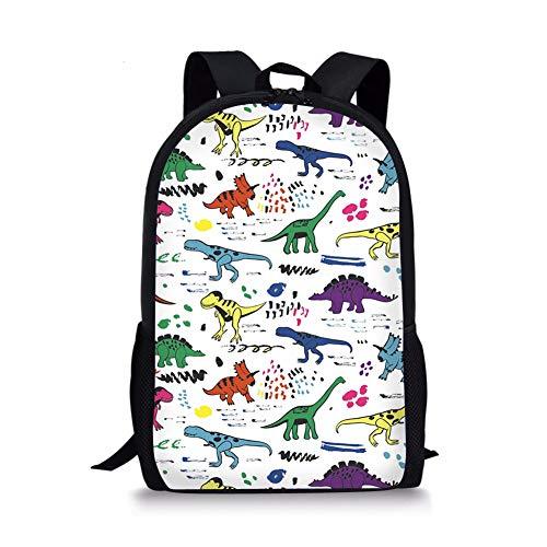 Spare IRL Blume gedruckt Primary Junior High University School Tasche Bookbag Rucksack Bunt T-rex Printed -