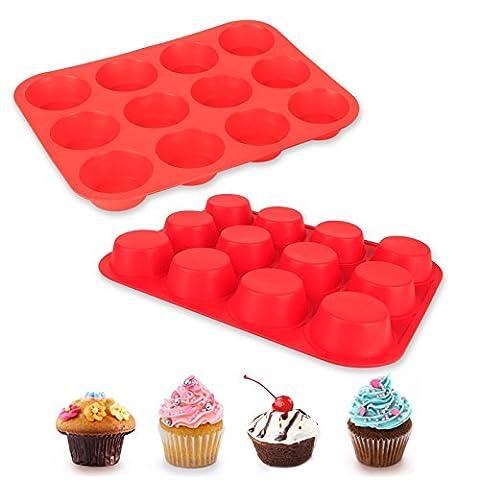 BAYTTER® 2pcs Muffinblech Muffinform Pralinenform Silikon Backform für Muffin Schokolade
