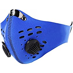 Senston neopreno Antipolvo Motocicleta Bicicleta Ciclismo Esquí Mitad Cara Máscara Filtrar un tamaño Azul