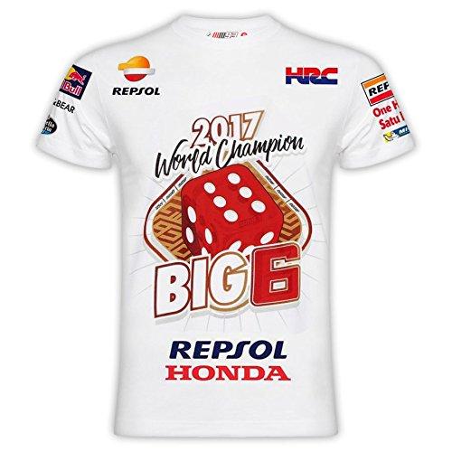 Camiseta Marc Márquez Oficial BIG6 Campeón MotoGP 2017 L 2cb8428aade