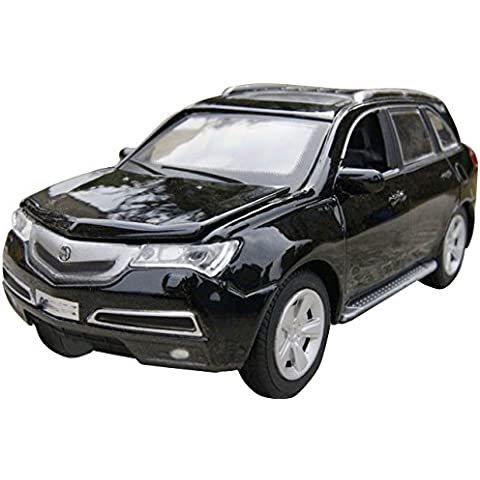 NuoYa001 New 1:32 ACURA MDX Diecast SUV Car Model Collection Sound&Light Black Pull Back by NuoYa