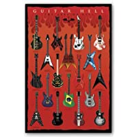 """Pyramid International """"The Axes of Evil Guitar Hell"""" Maxi Poster, Multi-Colour, 61 x 91.5 x 1.3 cm"""