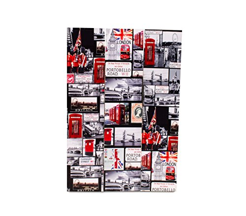 MEDIA WAVE store  Paravent Trenner 05975Doppel Modell London Paris Canvas auf Holz 120x 180
