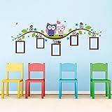 Sunnicy® Wandtattoo Fotorahmen Bilderrahmen Foto Erinnerungen mit Schönen Eulen Wandsticker Wandaufkleber für Baby, Kinderzimmer /Kindergarten