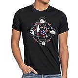 CottonCloud Piedra Papel Tijera Lagarto Spock Camiseta para hombre T-Shirt sheldon, Talla:XL;Color:Nero