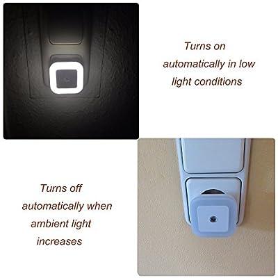 [neue Version] SOAIY 3er-Set LED Nachtlicht 0,2W energiesparend Steckdosenlicht mit Dämmerungssensor automatisch Orientierungslicht Sensor Leuchte 5000K