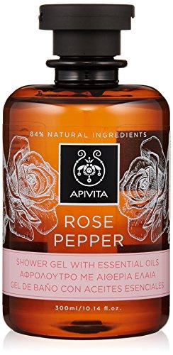 Tea Rose Duschgel (Apivita Rose Pepper Shower Gel with Essential Oils with Rose , 300ml)