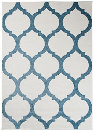 Teppich Kinderzimmer Jungen - Kinder Jugendzimmer Wohnzimmer - Designer Marokkanisches Muster - Pastellfarben