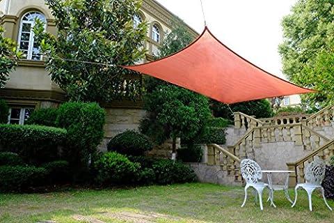 Cool Area rectangulaire 2x 4m voile d'ombrage Protection Solaire Voile, protection UV pour balcon terrasse ou jardin