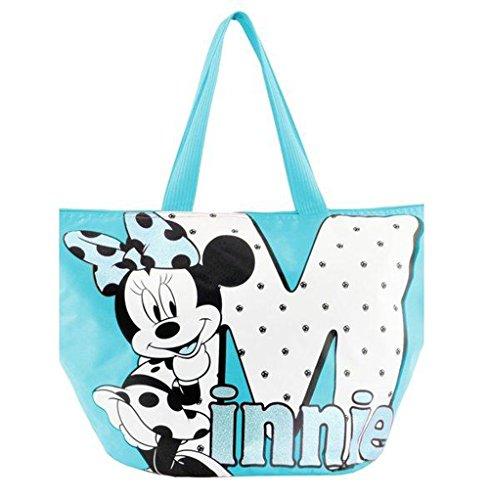 MINNIE - Sac de plage Minnie M Mouse bleu