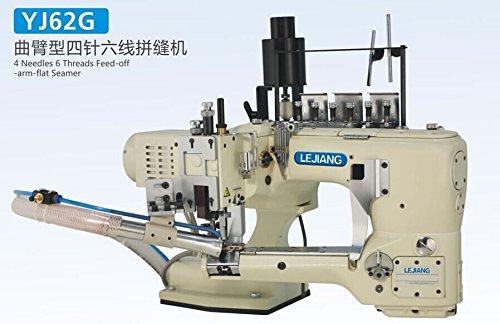 BAOSHISHAN YJ62G - Máquina de coser plana con 4 agujas de 6 hilos