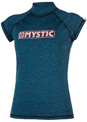 2017 Mystic Ladies Star Short Sleeve Rash Vest TEAL 170299 Sizes- - Large